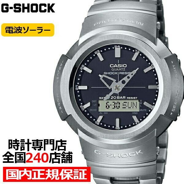 G-SHOCKGショックフルメタルAWM-500D-1AJFメンズ腕時計電波ソーラーアナデジブラック国内正規品カシオ