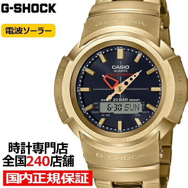 G-SHOCKGショックフルメタルAWM-500GD-9AJFメンズ腕時計電波ソーラーアナデジゴールド国内正規品カシオ