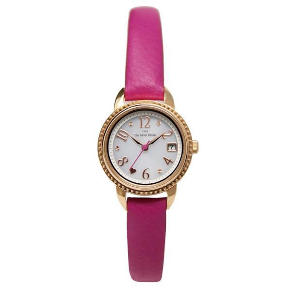 ザ・クロックハウス LFC1001-WH3B フェミニンカジュアル レディース 腕時計 ソーラー ピンクレザー ホワイト 3年間保証 雑誌掲載 THE CLOCK HOUSE|theclockhouse|02