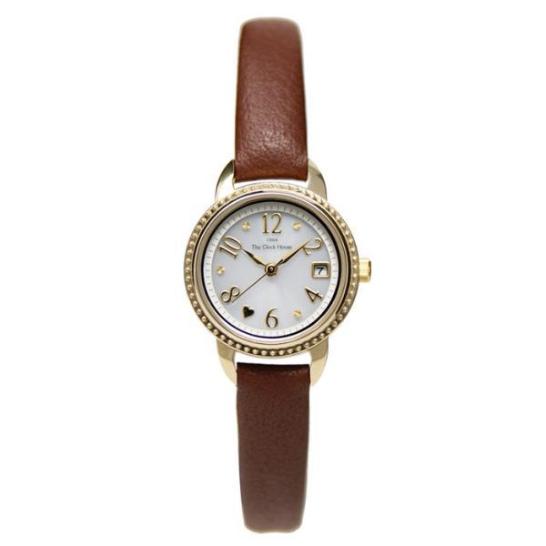ザ・クロックハウス LFC1001-WH4B フェミニンカジュアル レディース 腕時計 ソーラー 茶レザー ホワイト 3年間保証 雑誌掲載 THE CLOCK HOUSE|theclockhouse|02