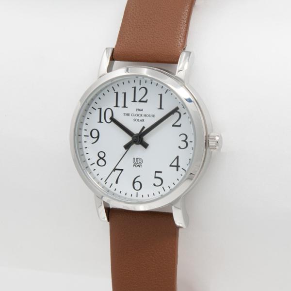 本日ポイント最大25倍 ザ・クロックハウス ユーディー LUD1001-WH3B ユニバーサルデザイン レディース 腕時計 ソーラー 茶レザー ホワイト UD4月新作|theclockhouse|03