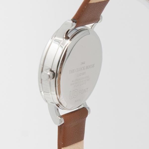 本日ポイント最大25倍 ザ・クロックハウス ユーディー LUD1001-WH3B ユニバーサルデザイン レディース 腕時計 ソーラー 茶レザー ホワイト UD4月新作|theclockhouse|04