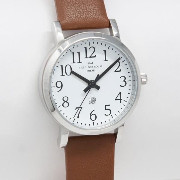 本日ポイント最大25倍 ザ・クロックハウス ユーディー LUD1001-WH3B ユニバーサルデザイン レディース 腕時計 ソーラー 茶レザー ホワイト UD4月新作|theclockhouse|05
