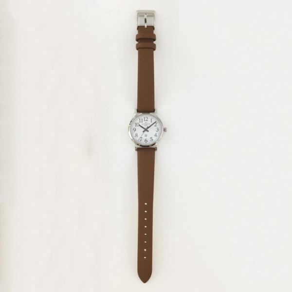本日ポイント最大25倍 ザ・クロックハウス ユーディー LUD1001-WH3B ユニバーサルデザイン レディース 腕時計 ソーラー 茶レザー ホワイト UD4月新作|theclockhouse|08