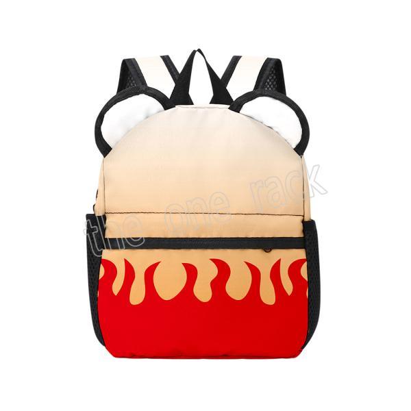 鬼滅の刃 風 煉獄杏寿郎コスプレ バッグ リュックサック  ペアルックランドセル 旅行通学通勤軽量収納人気多機能大容量 おしゃれ かわいいデザイン