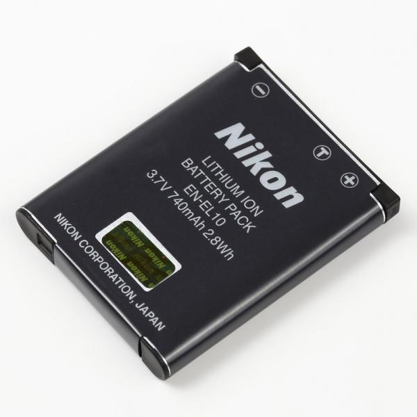 Nikon EN-EL10 純正 Li-ionリチャージャブルバッテリー COOLPIX