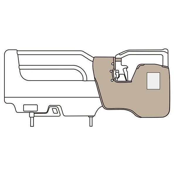 パラマウントベッド製 ソフトカバー付きスイングアーム介助バー/ スタンダード KS-098ACL 立ち上がり時につかまれて安心
