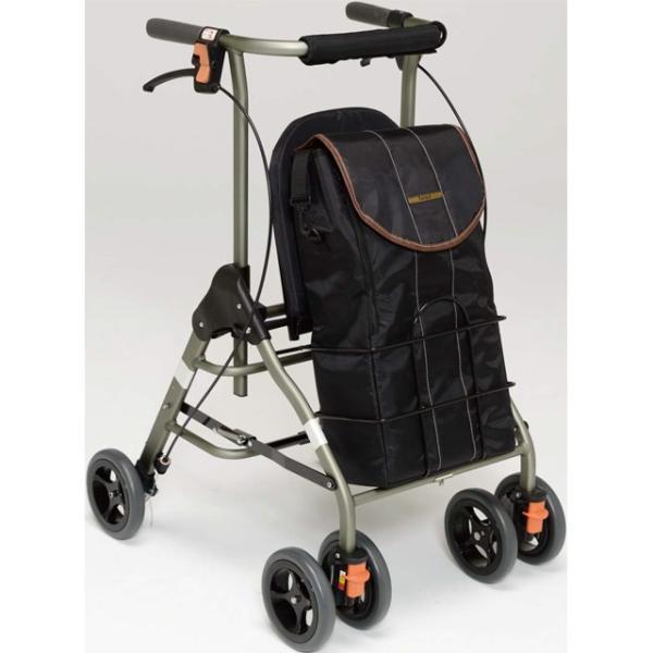 シルバーカー(幸和製作所製)テイコブリトルボンベ/waw06  1年間メーカー正規保証付き・送料無料 酸素ボンベが入る歩行車 酸素療法 男性にもおすすめ