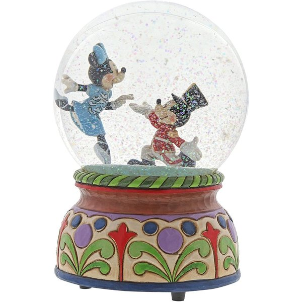 ディズニーフィギュア くるみ割り人形 ミッキーとミニー ウォーターボール スノードーム エネスコディズニートラディション