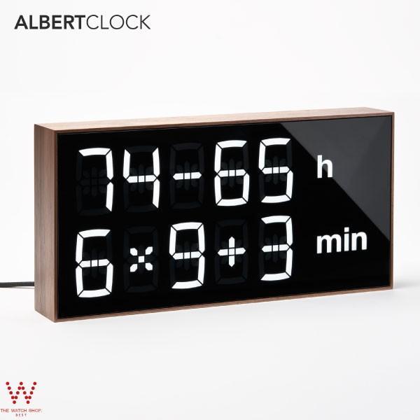 アルバートクロック2 ウォルナット Albert Clock2 walnut テーブルクロック 置き時計 壁掛け時計 デジタル 暗算 計算 脳トレ 子供 大人 おしゃれ インテリア thewatchshopwebstore