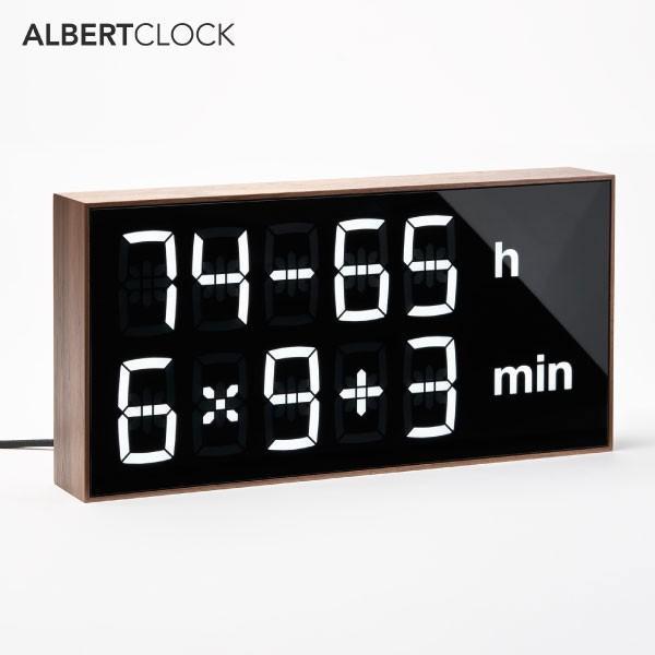 アルバートクロック2 ウォルナット Albert Clock2 walnut テーブルクロック 置き時計 壁掛け時計 デジタル 暗算 計算 脳トレ 子供 大人 おしゃれ インテリア thewatchshopwebstore 02