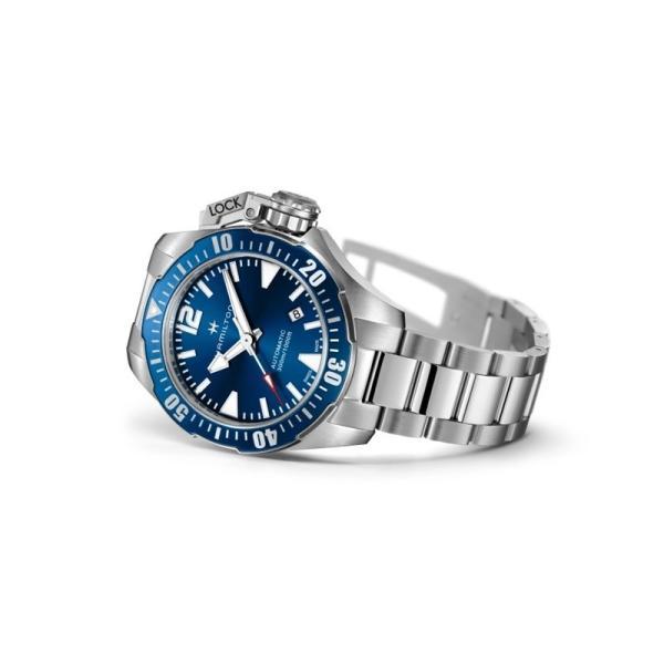 無金利ローン可 ハミルトン Hamilton カーキ ネイビー オープン ウォーター H77705145 メンズ腕時計 腕時計 時計