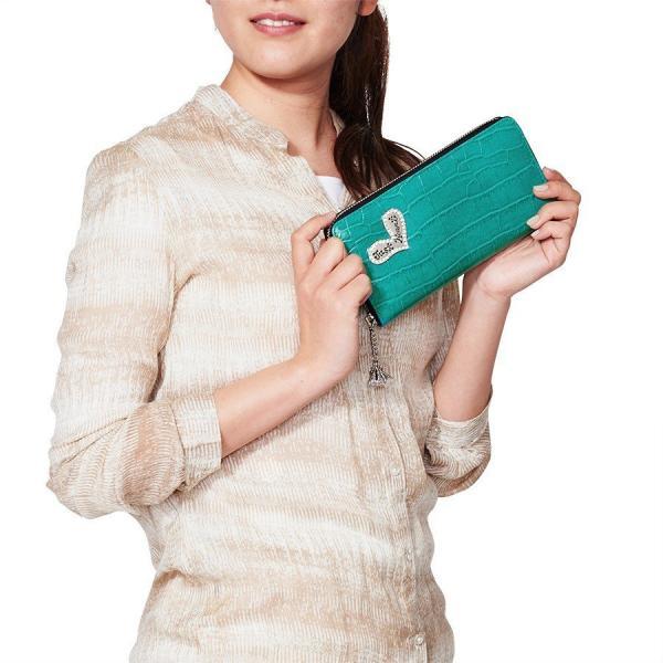 [7月中旬入荷予定]財布 ラウンド財布 ターコイズグリーン レディース シンクビー ビーサファリ 公式|thinkbee|05