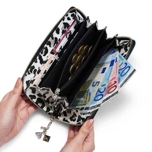 [7月中旬入荷予定]財布 ラウンド財布 ターコイズグリーン レディース シンクビー ビーサファリ 公式|thinkbee|04
