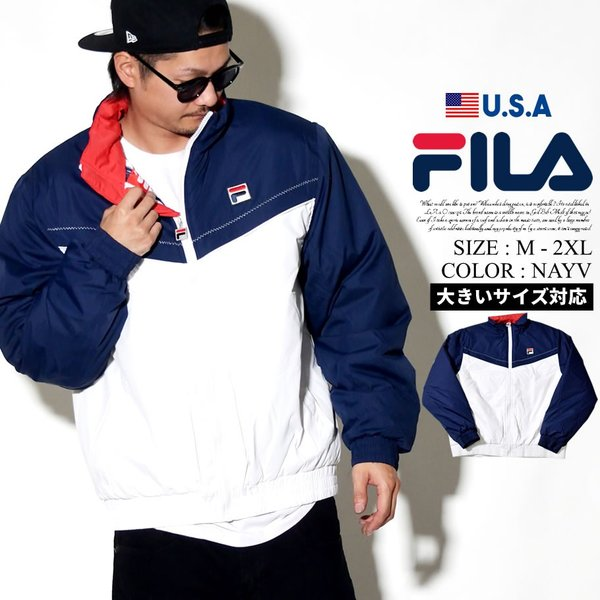 a063c111ca8 FILA フィラ ジャケット メンズ 中綿 大きいサイズ ナイロン USAモデル レッドチェリー 防寒 暖かい ロゴ スポーツ