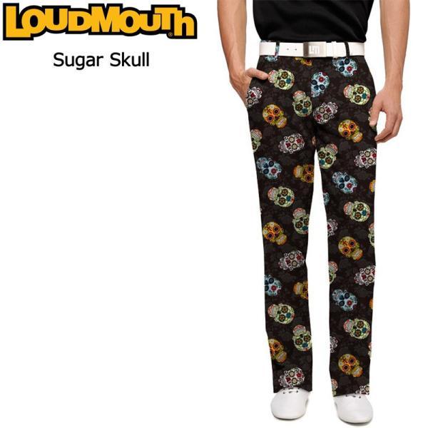 ラウドマウス Loudmouth ゴルフ メンズウエア ロングパンツ スリムカット Sugar Skulls シュガースカル 新品 777327(058)