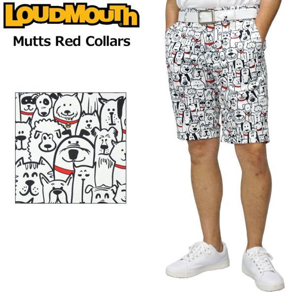 日本規格ラウドマウス2021メンズショートパンツストレッチUVカットマッツレッドカラーズ761302(278)21SSLoudm