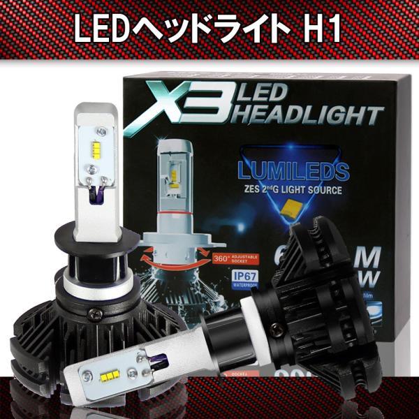 LEDヘッドライト  H1 LEDヘッドライト フォグランプ 6000LM/個 25W/個 DC9V-32V 対応 防水設計 車検対応 静音 ファンレス 2個1セット 1年保証