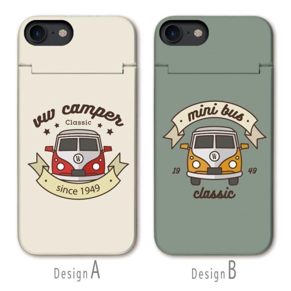 スマホケース iPhone XR X XS Max 8 7 6 plus SE ケース 鏡付き ミラー ケース ICカード カード収納 クラシックカー 車 レトロ ビンテージ three-o-one 02