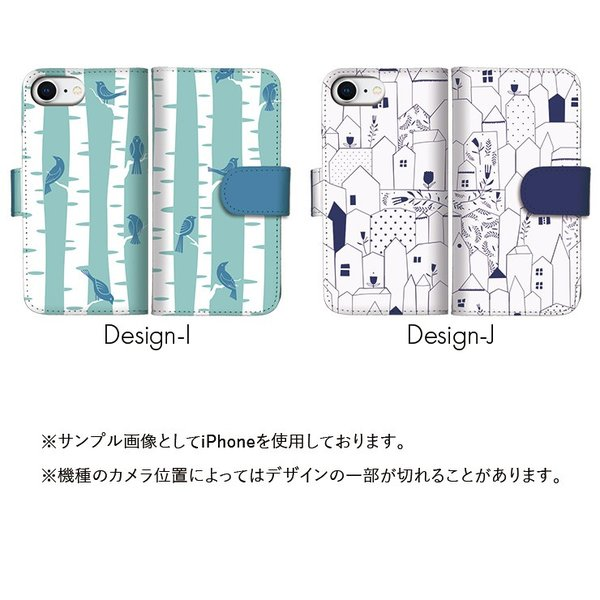 スマホケース iPhone8 XR X XS MAX 手帳型 手帳ケース 横 カバー xperia galaxy 手帳ケース レザー 猫 魚 鳥 羊 花柄 カラフル ポップ 北欧風 イラスト 大人|three-o-one|04