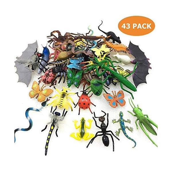 リアル昆虫フィギュア43匹ミニ偽虫昆虫おもちゃ子供おもちゃ