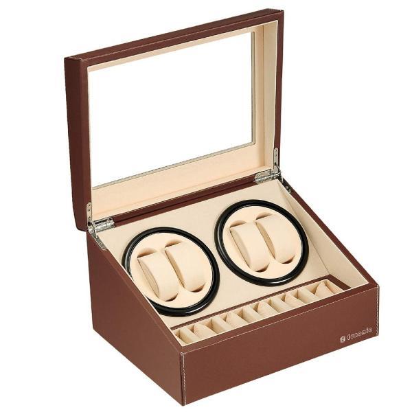 EUNOMIAワインディングマシーン(4本巻き+6本収納)ウォッチワインダー自動巻き時計ワインディングマシーン日本製マブチモータ