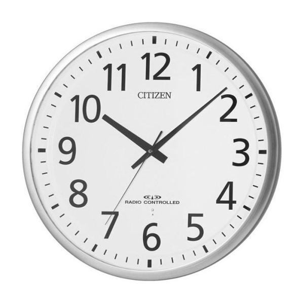代引不可 8MY465-019 シチズン スペイシーM465電波掛時計 見やすい 大型掛け時計|three-s7777