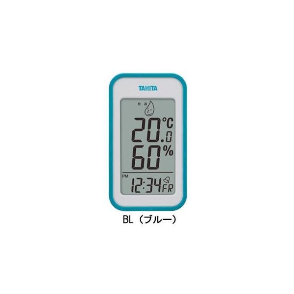 TANITA タニタ デジタル温湿度計 TT-559 BL・TT-559-BL 代引不可 温度計 湿度計 置き時計
