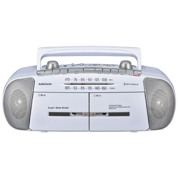 代引不可 OHM AudioComm ダブルラジオカセットレコーダー RCS-371Z