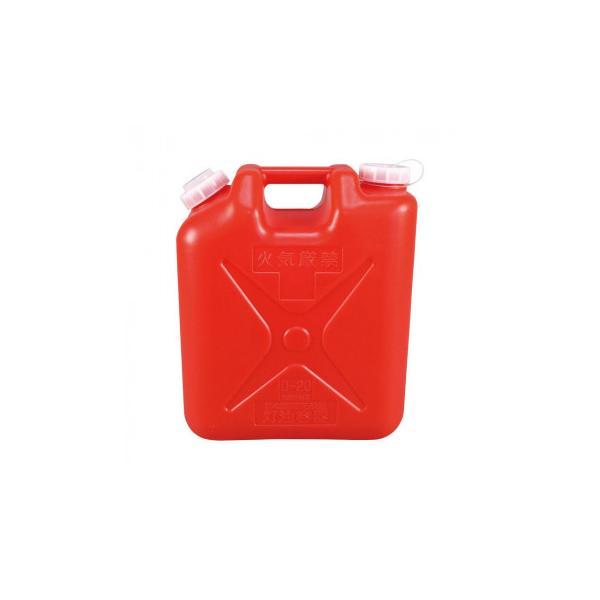 鵜沢ネット 灯油専用ポリタンク 赤 2ケ1組・20×36×42cm 59013同梱・代引不可