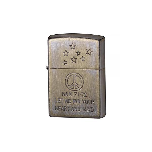 代引不可 ZIPPO(ジッポー)ライター アンティークベトナム風 ピースマーク 2UDN-7172