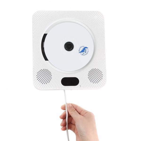 CDプレーヤー壁掛けBluetoothDVDプレーヤー安いHDMIおしゃれラジオFMBluetoothスピーカーオーディオリモコ
