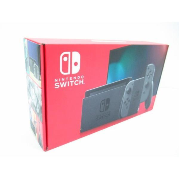 未使用品 Nintendo Switch 本体 (ニンテンドースイッチ) Joy-Con(L) /(R)グレー (バッテリー持続時間が長くなったモデル)|thrift-webshop