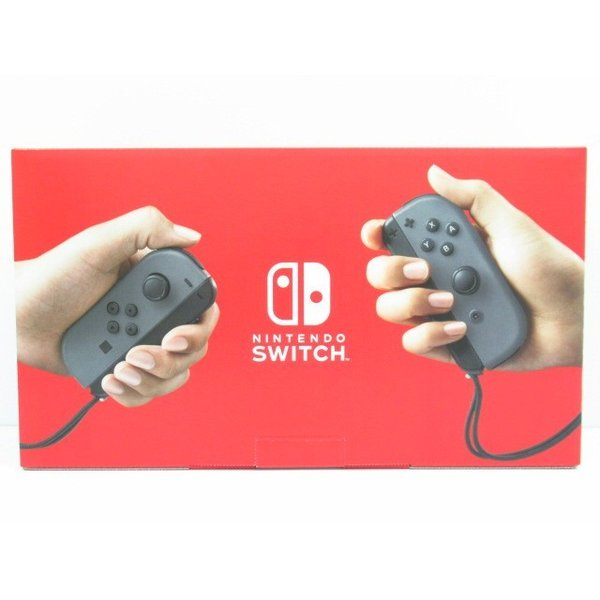 未使用品 Nintendo Switch 本体 (ニンテンドースイッチ) Joy-Con(L) /(R)グレー (バッテリー持続時間が長くなったモデル)|thrift-webshop|03