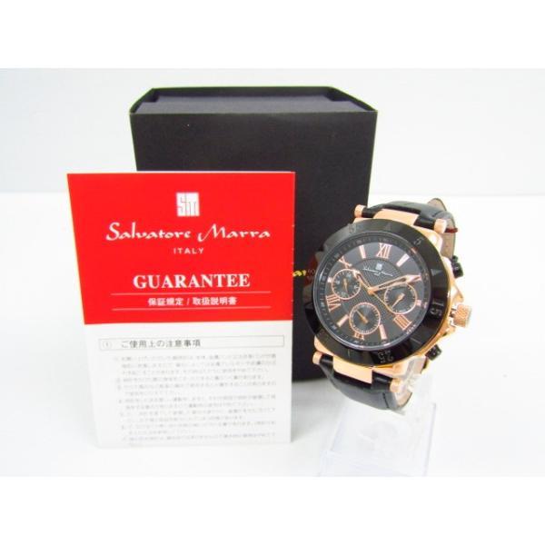未使用 Salvatore Marra サルバトーレマーラ SM14118S-PGBK クロノグラフ クォーツ腕時計 レザーベルト thrift-webshop