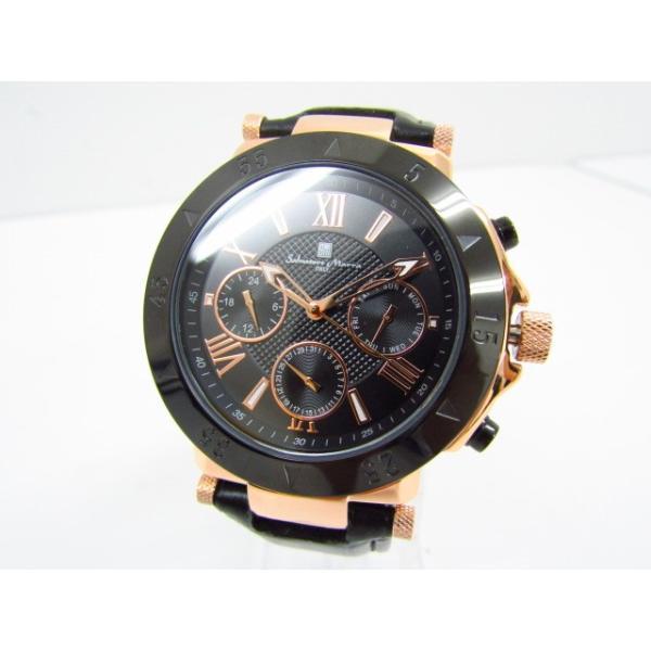 未使用 Salvatore Marra サルバトーレマーラ SM14118S-PGBK クロノグラフ クォーツ腕時計 レザーベルト thrift-webshop 02