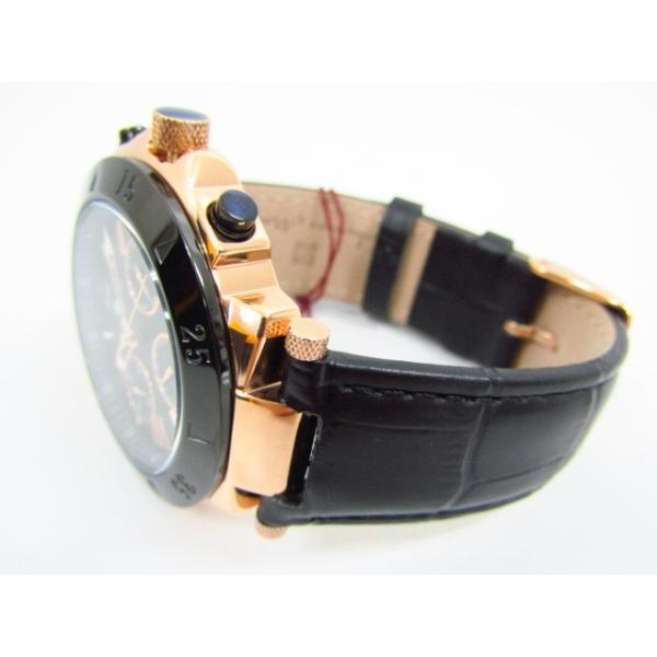未使用 Salvatore Marra サルバトーレマーラ SM14118S-PGBK クロノグラフ クォーツ腕時計 レザーベルト thrift-webshop 03