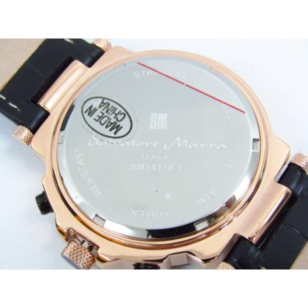 未使用 Salvatore Marra サルバトーレマーラ SM14118S-PGBK クロノグラフ クォーツ腕時計 レザーベルト thrift-webshop 06