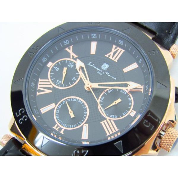 未使用 Salvatore Marra サルバトーレマーラ SM14118S-PGBK クロノグラフ クォーツ腕時計 レザーベルト thrift-webshop 07