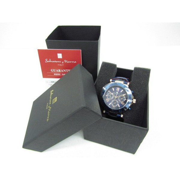 未使用 Salvatore Marra サルバトーレマーラ SM14118S-PGBL クロノグラフ クォーツ腕時計|thrift-webshop