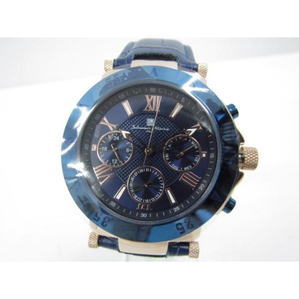 未使用 Salvatore Marra サルバトーレマーラ SM14118S-PGBL クロノグラフ クォーツ腕時計|thrift-webshop|02