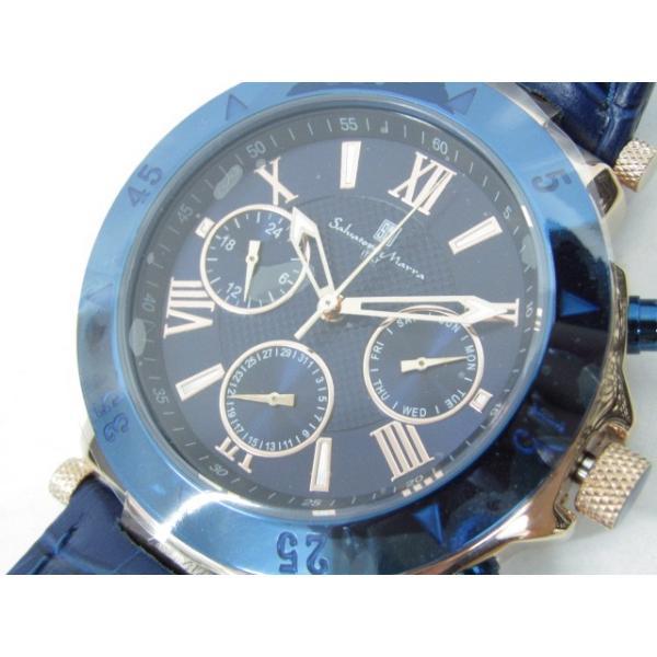 未使用 Salvatore Marra サルバトーレマーラ SM14118S-PGBL クロノグラフ クォーツ腕時計|thrift-webshop|06