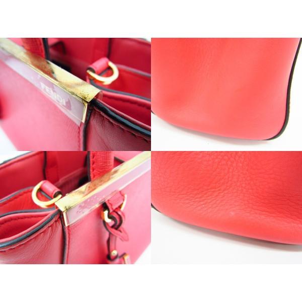 FENDI フェンディ プチ トゥージュール レザー 2wayバッグ ピンク