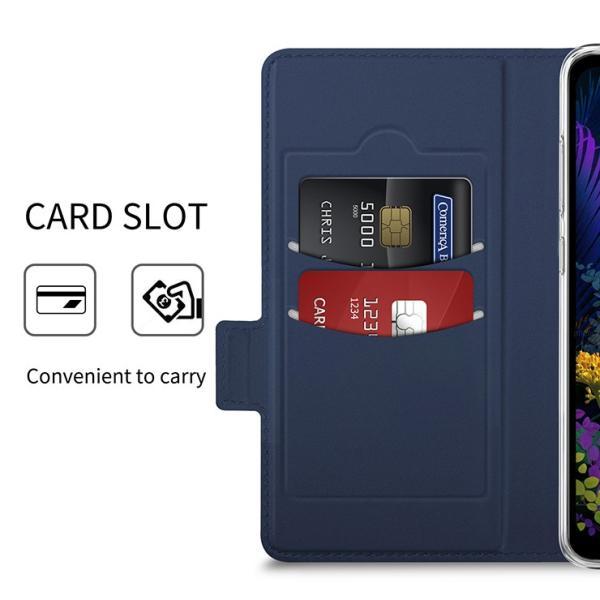 【上質な手触り】 LG K50 802LG シンプル 手帳型 レザーケース 手帳ケース  SoftBank エルジーケーフィフティー LGK50  無地 高級 PU サラサラ生地 全面保護|thursday|04