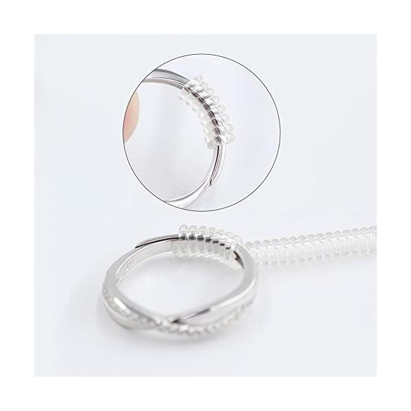 CCINEE 指輪 サイズ調節 リングアジャスター ring adjuster リングストッパー 銀磨きクロス布付き 3本セット