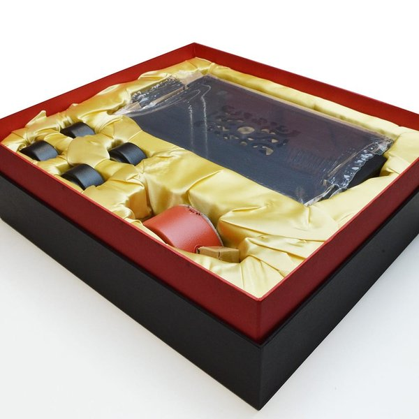 龍啓壺茶器セット(富貴紅)