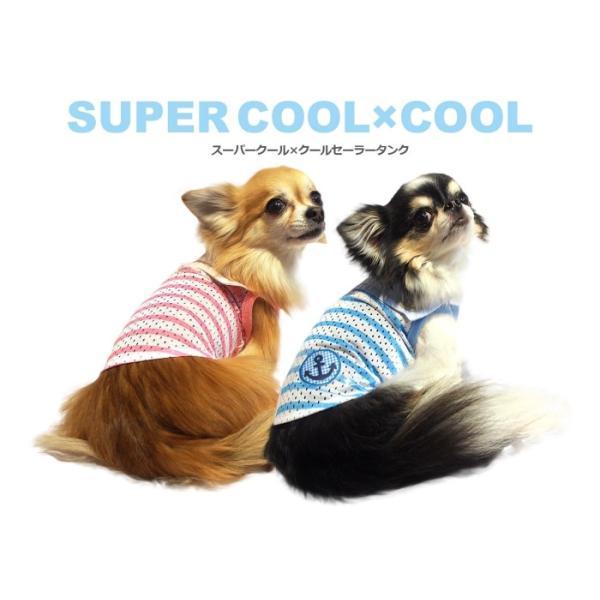 クークチュール Coo Couture スーパークール×クール セーラータンク 小型犬 犬服 ウエア トップス タンク クール素材 ひんやり|tiarapetsjapan|06