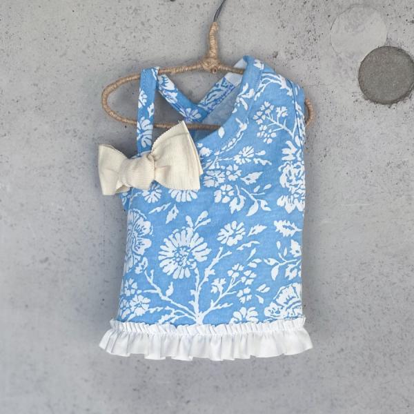 2-ルイスドッグ louisdog Floral One-Shoulder Ribbon Tee