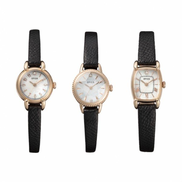 SPICA スピカ HOLIDAY COLLECTION ホリデーコレクション TONNEAU SOLOR トノーソーラー 200本限定 腕時計 レディース SPI28-BLK/2018