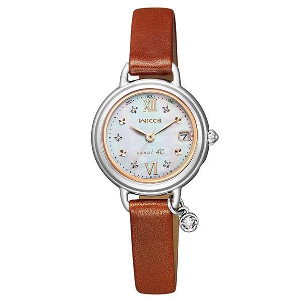 wicca ウィッカ CITIZEN シチズン canal4℃コラボ 数量限定 ソーラー テック電波 腕時計 レディース KL0-561-92